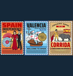spain history travel and culture vector image
