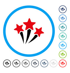 Star fireworks rounded icon vector