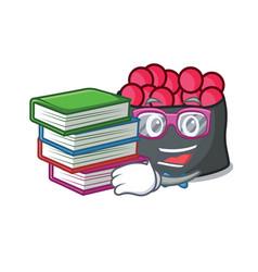 student with book ikura mascot cartoon style vector image