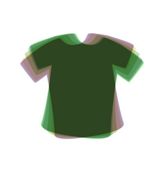 T-shirt sign colorful icon shaked with vector