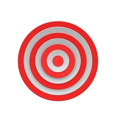 Target isolated on white background vector