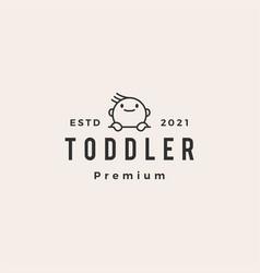 Toddler baoutline hipster vintage logo icon vector