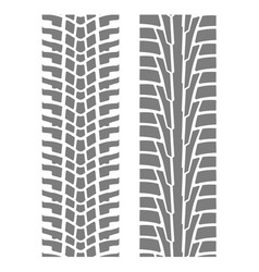 Two seamless tyre tracks patterns - wheel tire vector