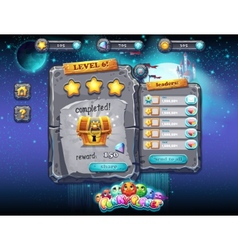user interface for computer games and web design vector image