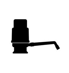 Water cooler hand pump vector