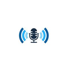 wifi podcast logo icon design vector image