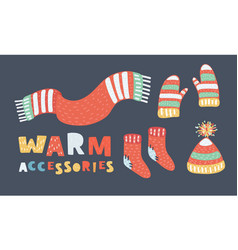 winter clothes set vector image