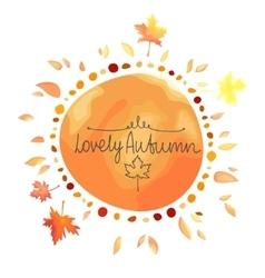 Autumn orange background spot in round shape vector image