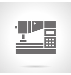 Computerized sewing machine glyph icon vector
