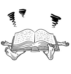 doodle squish book study vector image