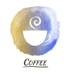 Drink Coffee Watercolor Concept vector image vector image