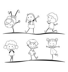 kids activity vector image vector image