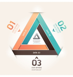 Modern infinite triangle origami vector image vector image