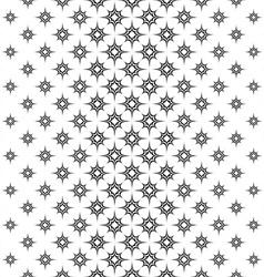 Seamless black white vertical star pattern vector image