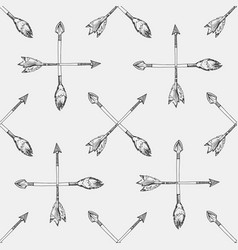 sketches arrows seamless pattern vector image vector image