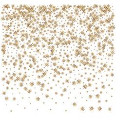 amazing christmas golden snowflake background vector image vector image