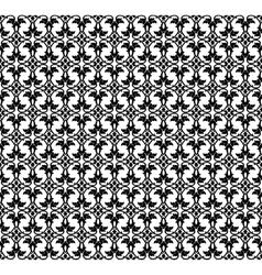 Black pattern vector image