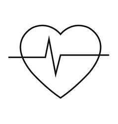 heart cardio icon vector image