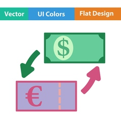 Icon of currency exchange vector image vector image