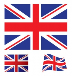 united kingdom flag set vector image vector image