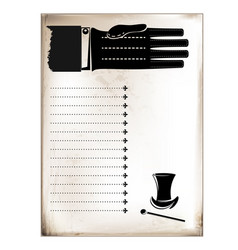 vintage card male hand vector image