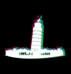 Isolated pisa cityscape vector