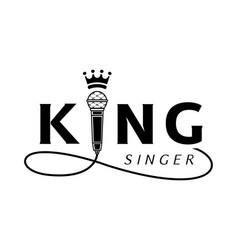 king singer logo with microphone vector image