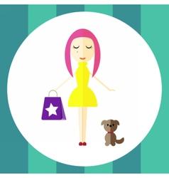 shopgirl vector image