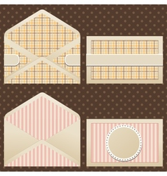 Collection of old vintage envelopes vector image vector image