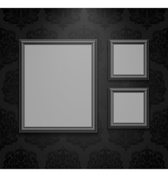 Empty frames on the wall vector image vector image