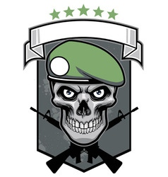 Military skull vector