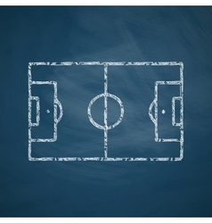 playing field icon vector image