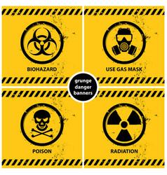 set of grunge danger banners vector image vector image