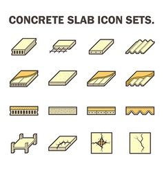 Slab and floor icon vector image vector image
