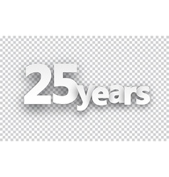 Twenty five years paper sign vector image vector image