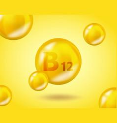 3d vitamin drop b12 cyanocobalamin pill capsule vector