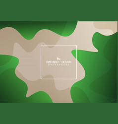 Abstract gradient green free shape pattern design vector