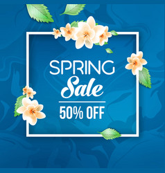 Abstract spring sale offer banner design with vector
