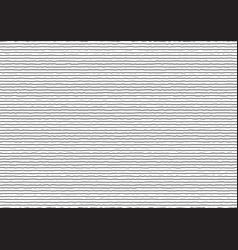 abstract thin black stripes rough horizontal vector image