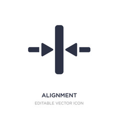 Alignment icon on white background simple element vector
