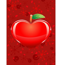 appleshaped heart vector image
