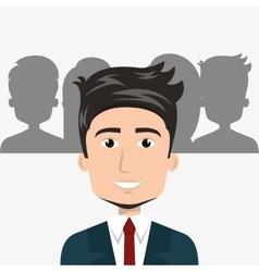 avatar man smiling vector image