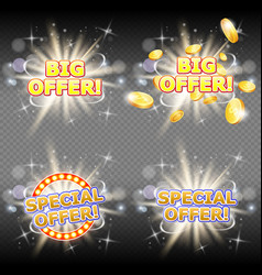 big and special offer banner set vector image