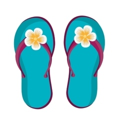 Blue beach flip flops graphic vector