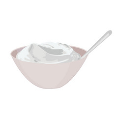 bowl of sour cream vector image