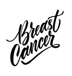 Breast cancer awareness poster lettering a vector