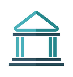 building bank safe money financial symbol vector image