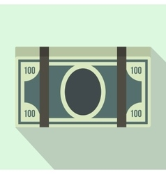 Bundle of dollars icon flat style vector image
