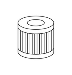 car oil filter linear icon on white background vector image