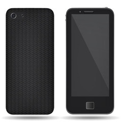 Carbon back cover smartphone vector image